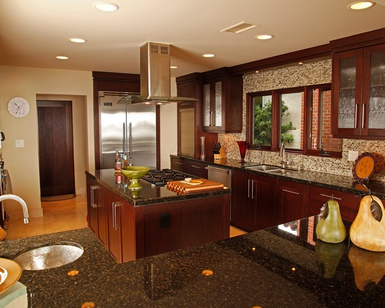 Tropical kitchen design pictures remodel decor and for Tropical themed kitchen