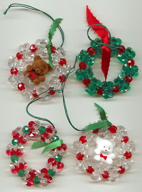 Homemade Christmas Ornaments For Babies : Best beaded christmas figures models images on