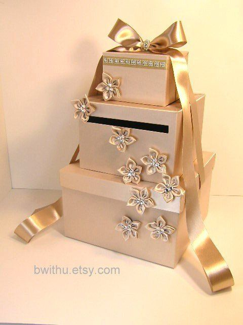 Wedding Card Box Choco Brown And Tffany Blue Gift Money Holder Customize Your Color
