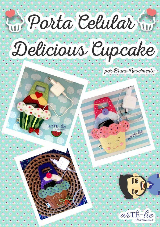 Moldes para Feltro: Carregador Cupcake