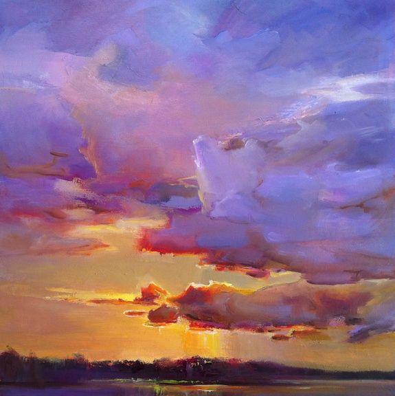 Sunset in oils