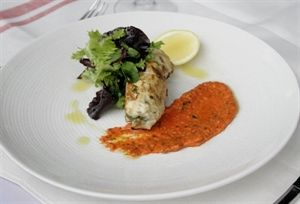Sicilian Style Seared Tuna Rolled with Speck, Fennel & Lemon with Roast Capsicum Pesto