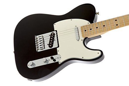 Fender Standard Telecaster Electric Guitar - Maple Fingerboard, Black.  Electric Guitar Lessons Guitar Parts Schecter Guitars Dean Electric Guitar Guitar Pics Cort Guitars Free Online Guitar Lessons Best Online Guitar Lessons Dean Guitars Learn How To Play Guitar How To Learn Guitar Blues Guitar Lessons Teach Yourself Guitar