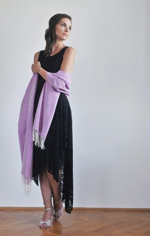 Handwoven silk scarf