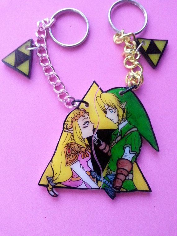 Zelda And Link Couples Keychain Great Valentines Gift By JuliesNovelties On  Etsy, $20.00