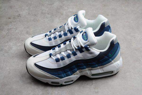 the latest d5924 b6c02 Men's Nike Air Max 95 OG White/Emerald Green-Court Blue ...