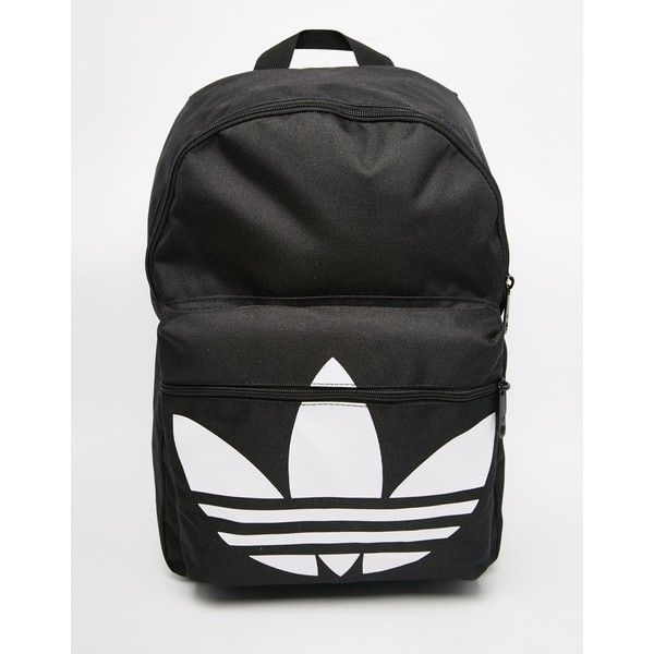 adidas Originals Classic Backpack in Black ($31) ❤ liked on Polyvore featuring bags, backpacks, black, black backpack, knapsack bags, adidas, backpacks bags and adidas backpack
