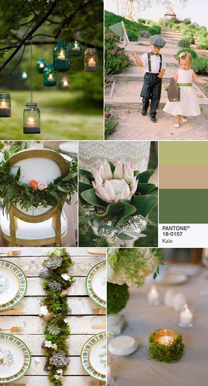 pantone kale wedding color inspiration for 2017 spring