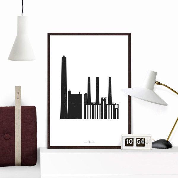 H.C. Ørstedsværket Plakat | Urban Hagen  Giclee print on Hahnemühle Paper