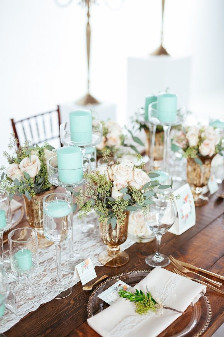 Hochzeitsdekore Kerzen Mint Green Canada Wedding Inspiration Shoot