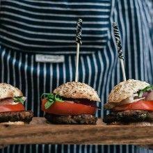 Schwarze-Bohnen-Burger