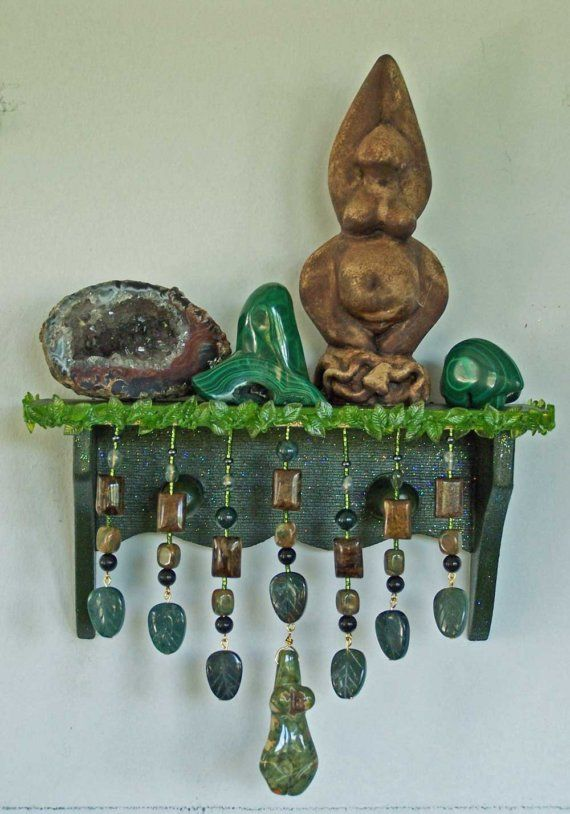 this would be a p. neat wall altar for the 4 directions but how to make it earthquake safe?