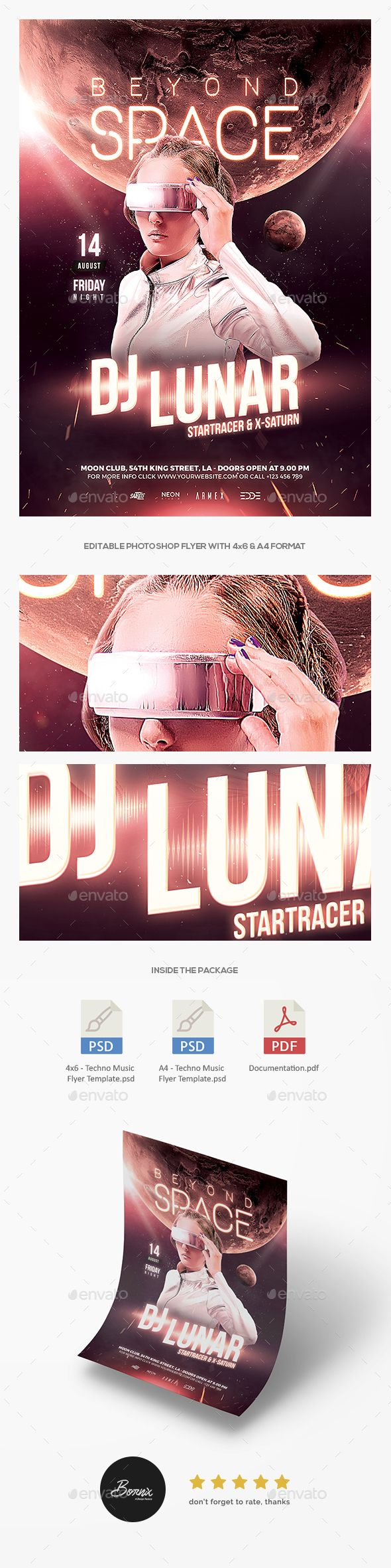 Techno Music flyer template for Photoshop, only on GraphicRiver #graphicriver #envato #flyer #poster #template #photoshop #graphic #design #designer #creative #ads #advertisements #banner #promotion #techno #music #futuristic #modern #edm #electronic #dance #dj #concert