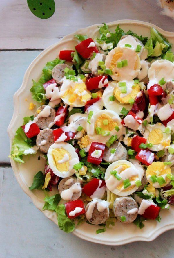 Wielkanocna sałatka z białą kiełbasą i jajkiem ♥♥♥
