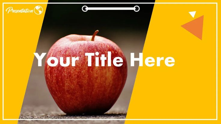 Free Red Apple Powerpoint Template and Google Slides