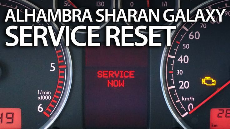 How to #reset #service reminder in #Sharan #Galaxy #Alhambra (inspection VW Ford Seat)