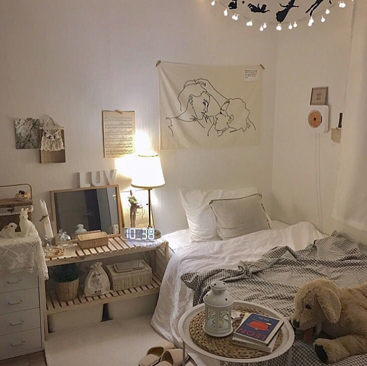 27 Small Bedroom Ideas Design Minimalist And Simple Pandriva Aesthetic Bedroom Minimalist Room Bedroom Decor