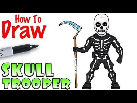 How To Draw Skull Trooper Fortnite Youtube Drawing