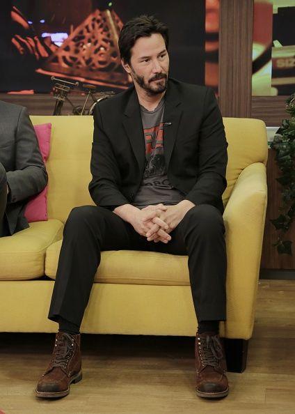 Keanu Reeves on 'Despierta America.' Styled by Jeanne Yang.