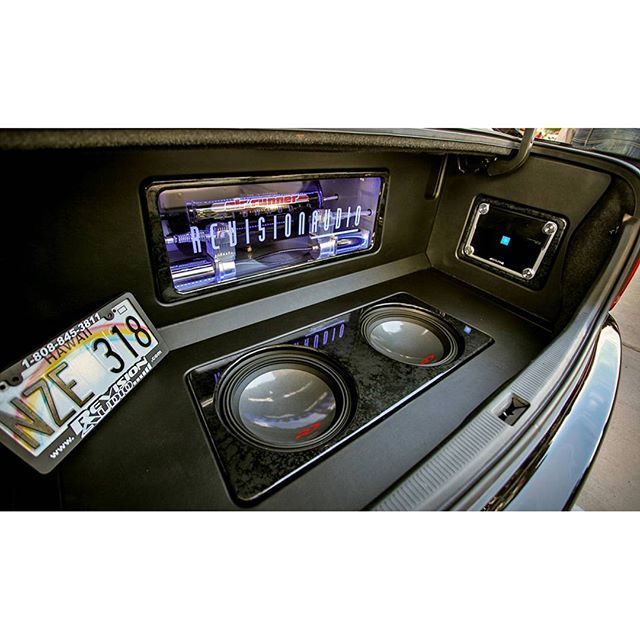One Loud Page. alpine car audio custom install trunk plexi sub enclosure