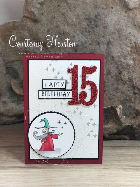 Bags That One!: Myths and Magic Wizard Birthday Card, Stampin' Up! Magical Day, Stampin' Blends