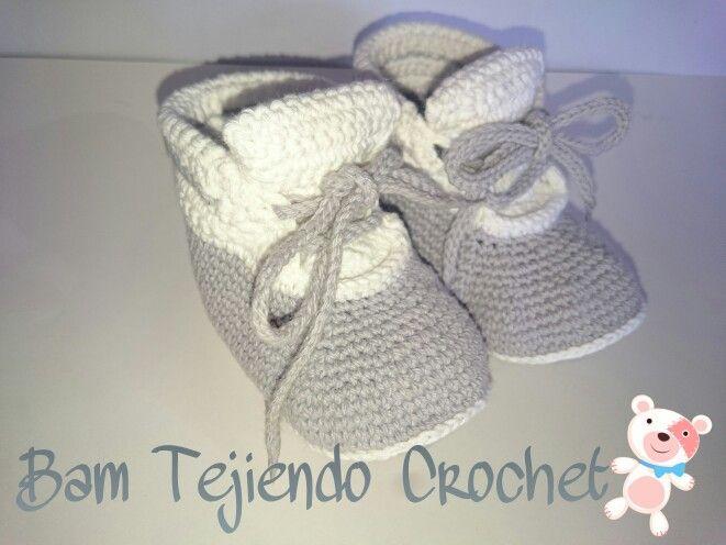 Zapatillas bebé  #Bamtejiendocrochet