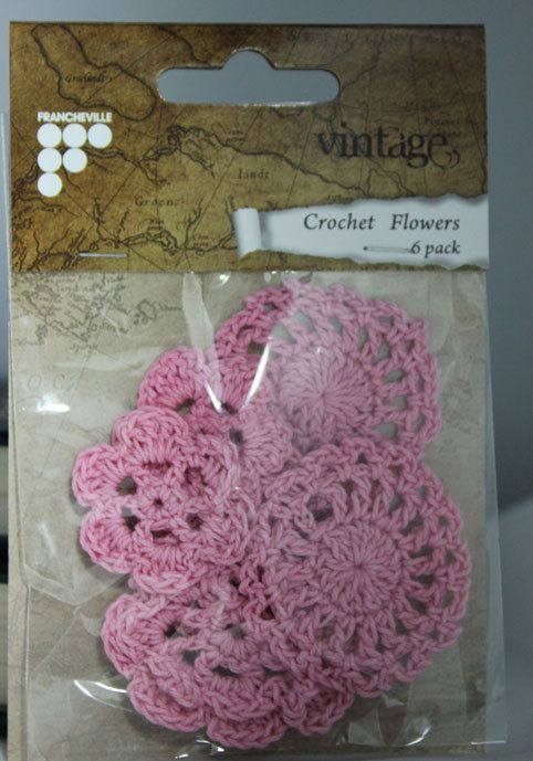 Crotchet Flowers 6 in a pack by FadedTwistedWings on Etsy.