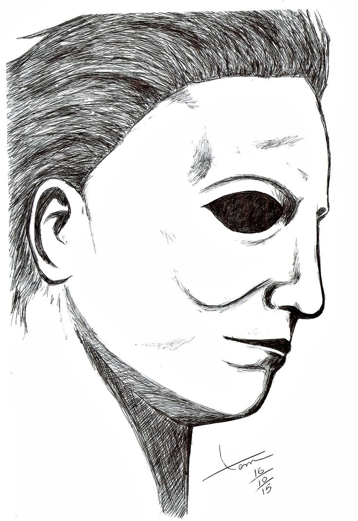 36 best images about desenhos drawings on pinterest for Michael myers coloring pages