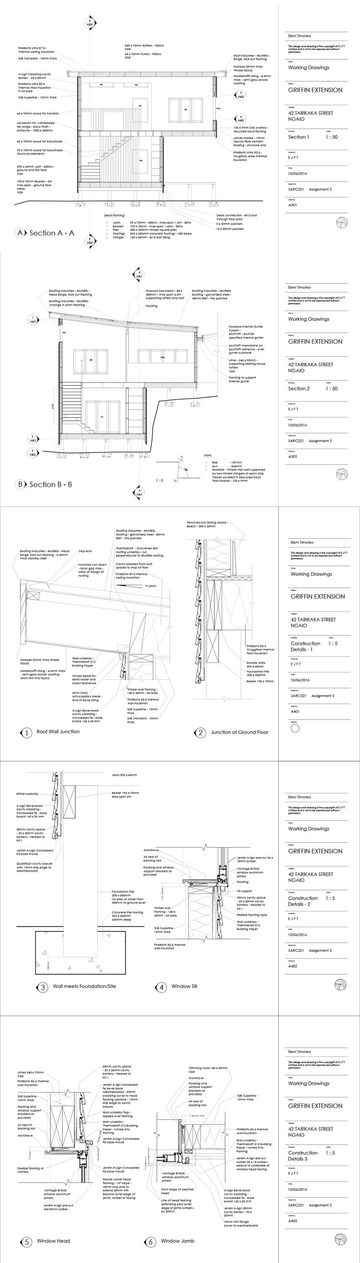Griffen Extension, Construction Drawings  2016, AutoCad