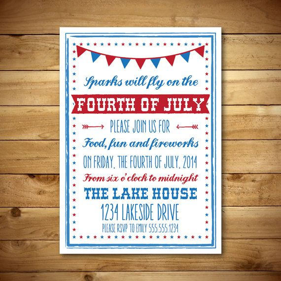 printable fourth of july invitation template