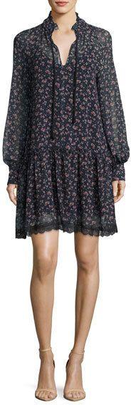 See by Chloe Floral-Printed Chiffon Babydoll Dress