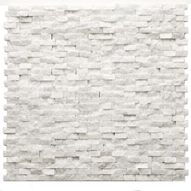 Solistone 10-Pack 12-in x 12-in Modern White Natural Stone Wall Tile from Lowes. Kitchen Backsplash