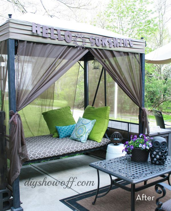 Affordable Outdoor Style: DIY Patio Swing Makeover