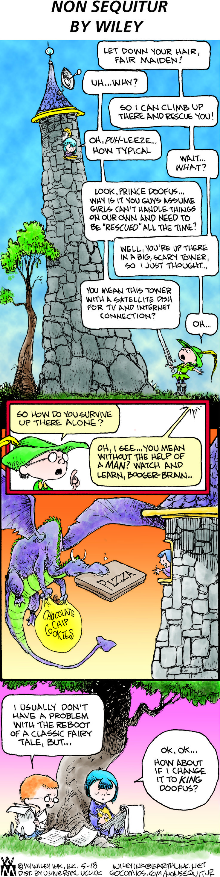 My Favorite Cartoonist Smashes A Sexist Fairy Tale Trope In One Hilarious Swoop