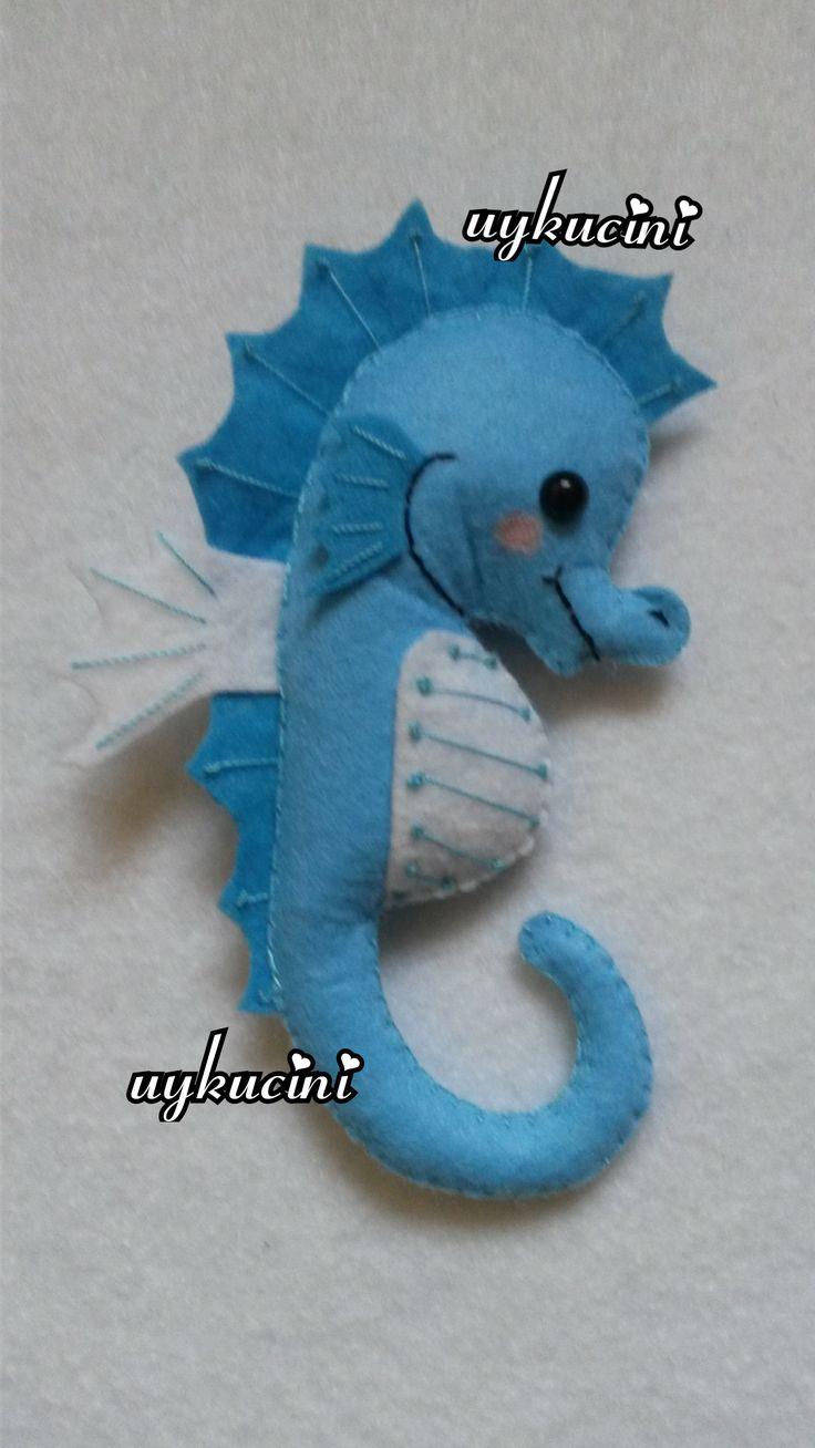 uykucini - keçe deniz atı felt seahorse