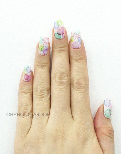 Trickle nail #nailart #nail #beauty #chahongardor