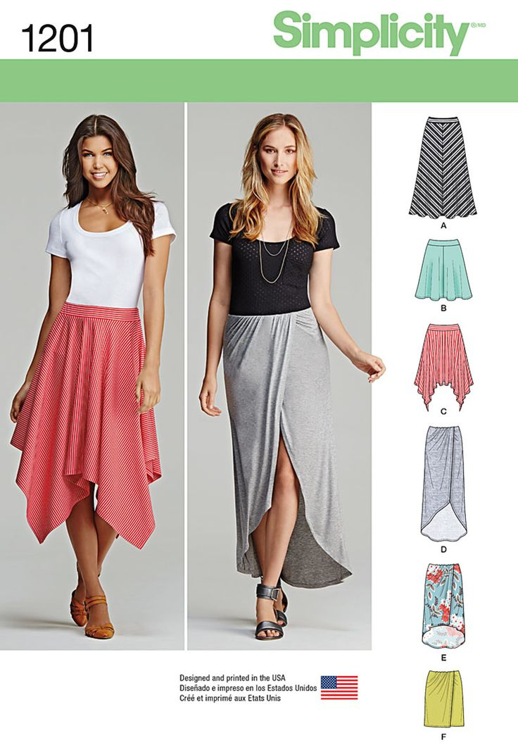 Simplicity Pattern 1201H5 6-8-10-12--Skirts & Pants
