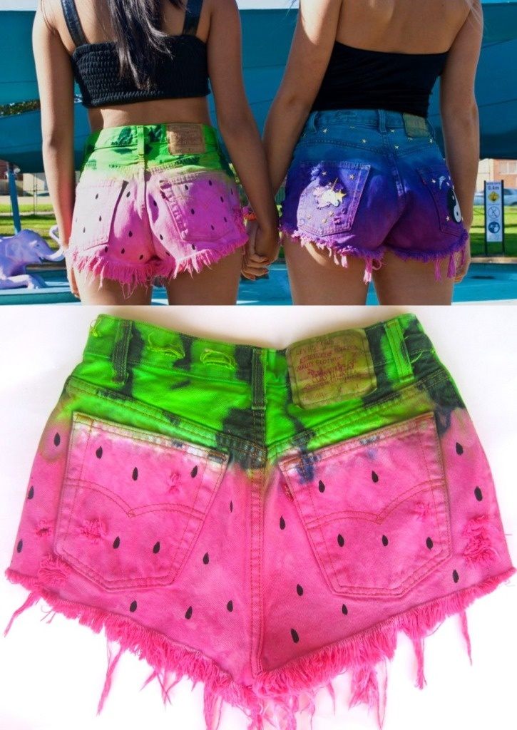 Tie dye shorts teen