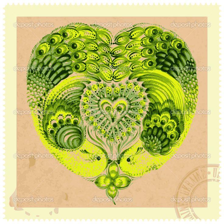 цветочные композиции в стиле ретро - Стоковая иллюстрация: 33611357