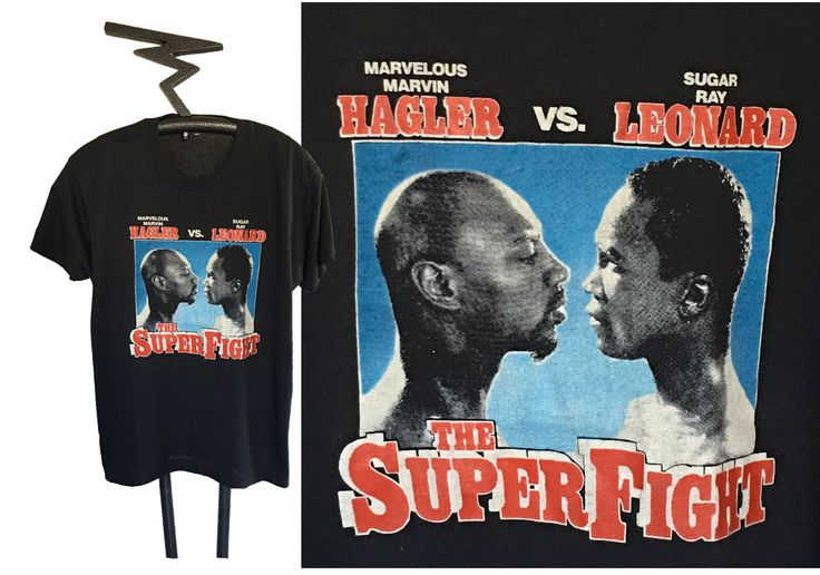 1987 The Super Fight Marvelous Marvin Hagler vs Sugar Ray Leonard BOXING Tee, Size Extra Large by WedgeHeadTs on Etsy