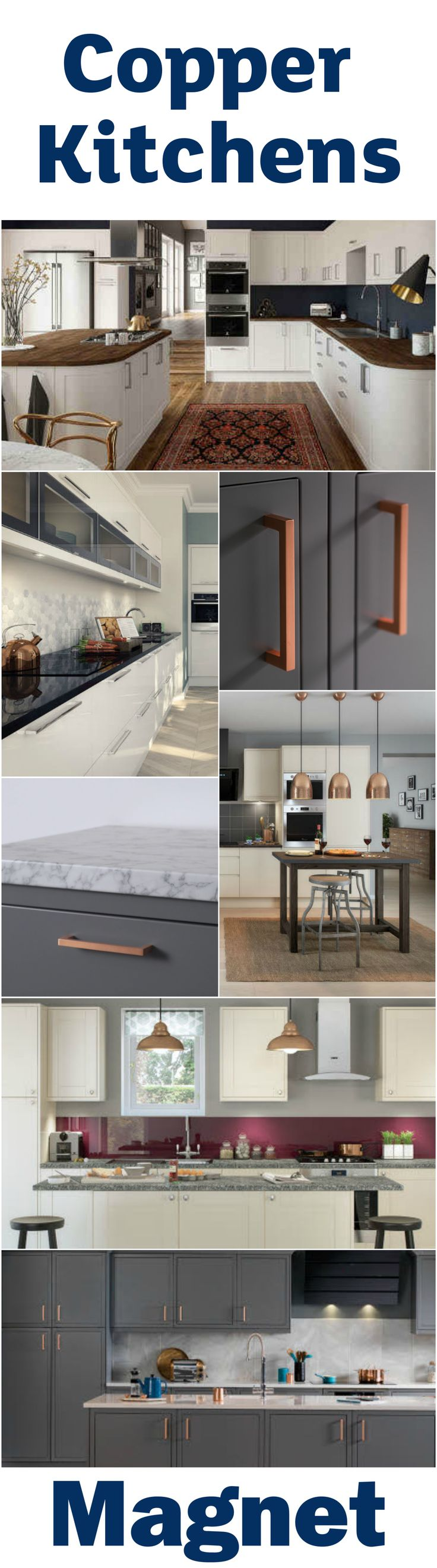Embrace the copper trend in the home - take a look at our range of kitchens and copper accessories