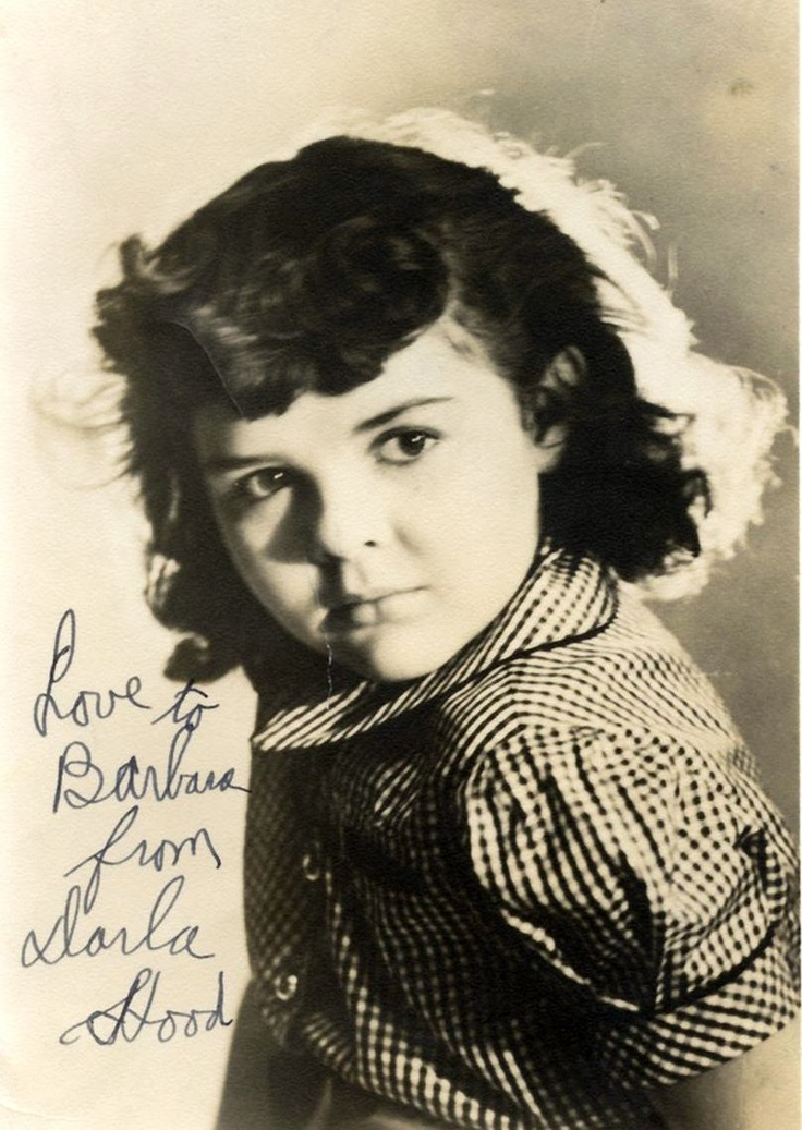 Darla Jean Hood (November 8, 1931 - June 13, 1979) was an American child actress, best known as the leading lady in the Our Gang series from 1935 to 1941. She was born in Leedey, Oklahoma, the only child of James Claude Hood and Elizabeth Davner. Her father worked in a bank and her mother was a music teacher.