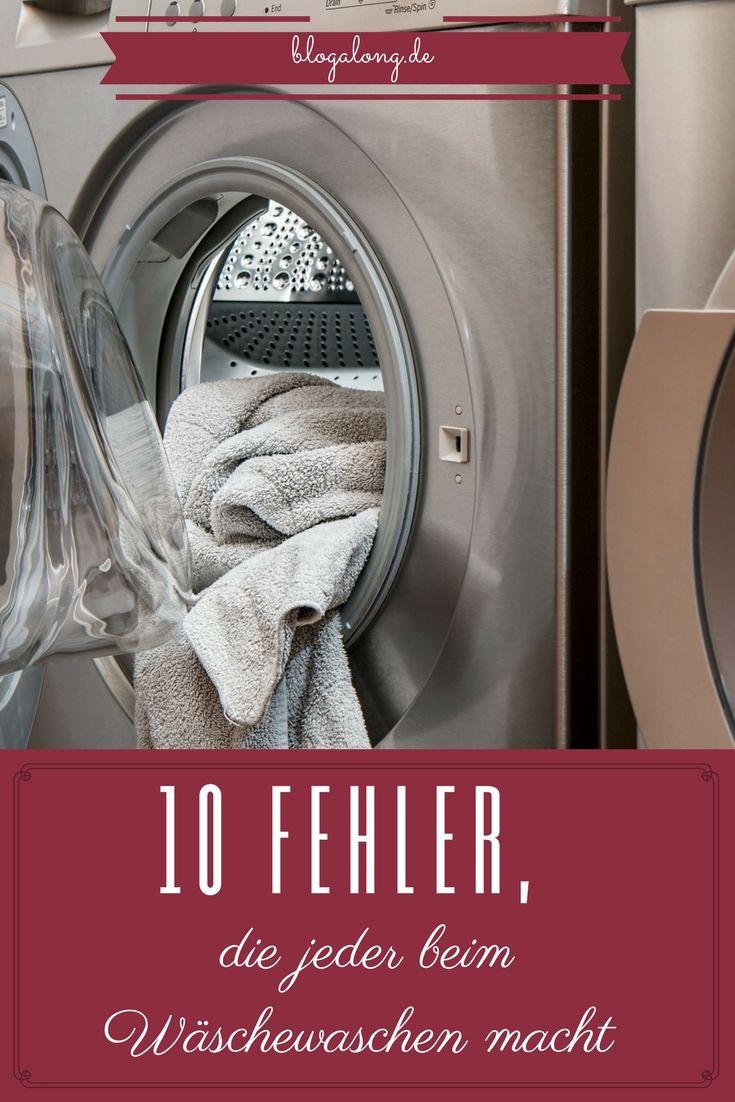 10 Fehler, die jeder beim Wäschewaschen macht #haushalt #wäsche #waschen #pflege #waschmaschine #fehler #tipps #hacks #tricks #blogalong
