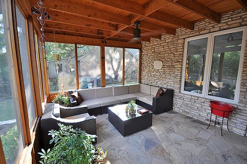513 best outdoor areas images on pinterest - Como decorar un porche abierto ...