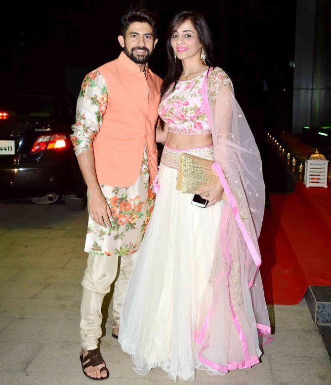 Hussain and Tina Kuwajerwala : Photos: Riteish, Genelia, other celebs at Ashish Chowdhry's Diwali bash