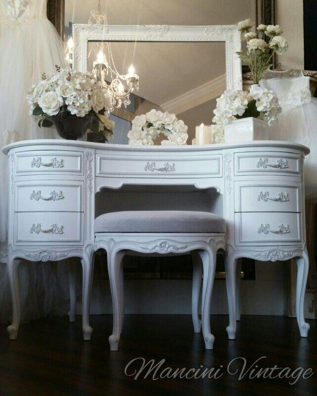 Superb #Www.mancinivintage.com #mancini #white #paintedfurniture #romantic #white