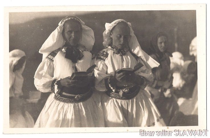 POSTCARD Slovak photograph Karol Plicka folk costume Zliechov