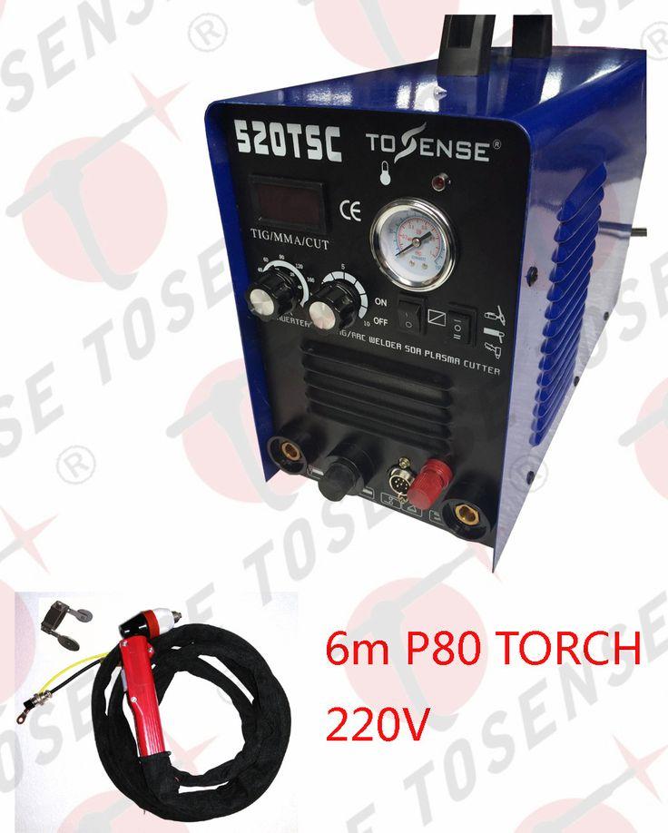 6-meter P80 torch NEW 3in1 50A PLASMA CUTTER 200 AMP TIG STICK/ARC WELDER & torches & 220V #Affiliate