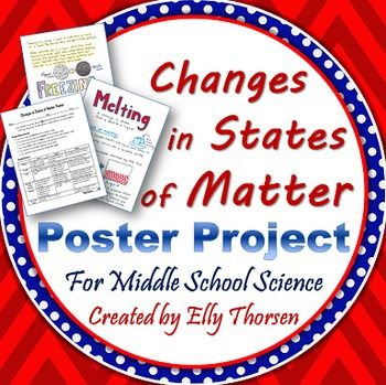 Students can show their creativity while they demonstrate their understanding of a change in state of matter like freezing, sublimation, melting, evaporation, or condensation.