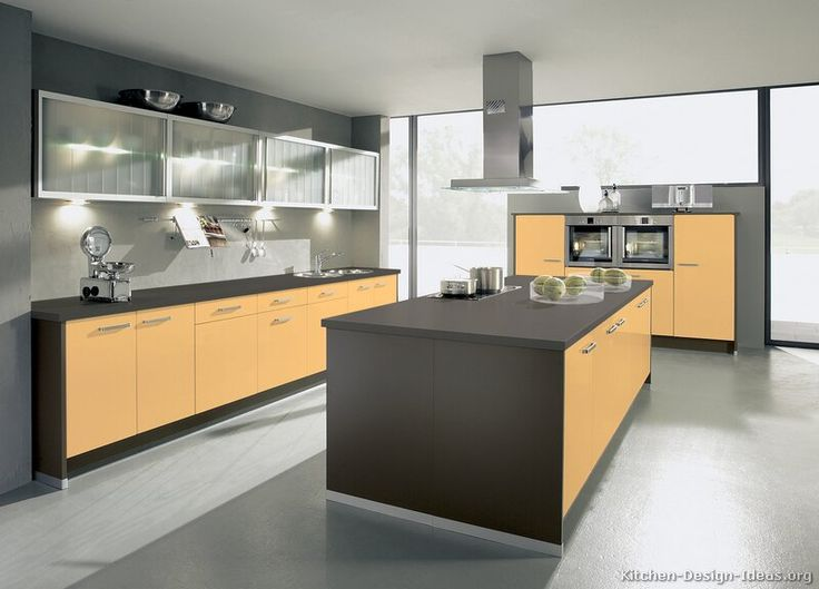 607 best images about modern kitchens on pinterest dark for Dark orange kitchen